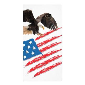America Flag Personalised Photo Card