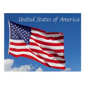 America Flag Postcard