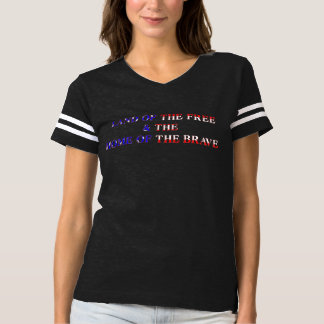 America Free & Brave Red T-Shirt