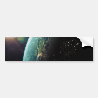 America From Space from Day to Night Bumper Sticker