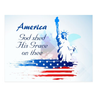 America-God Shed His Grace on Thee Postcard