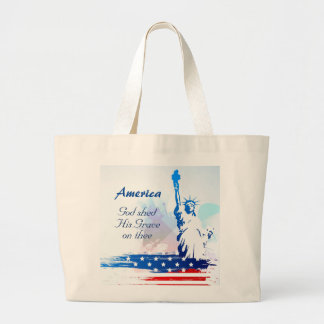 America-God Shed His Grace on Thee Tote Bag