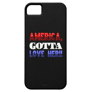 AMERICA GOTTA LOVE HER T-SHIRT TEE iPhone 5 CASES