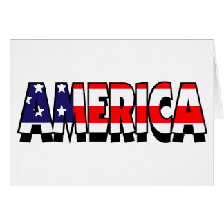America! GREETING CARD