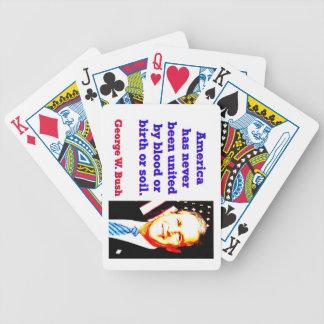 America Has Never - G W Bush Poker Deck