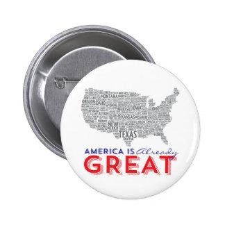 America is ALREADY GREAT Hillary Clinton Button