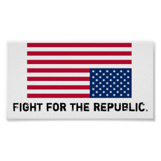 America is in distress, fight for the republic. poster