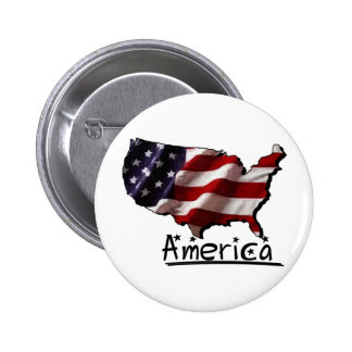 America -- Land that I Love Button