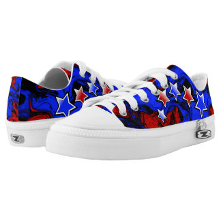 America Low Top Shoes Printed Shoes