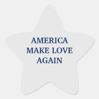 AMERICA MAKE LOVE AGAIN  ™ STAR STICKER
