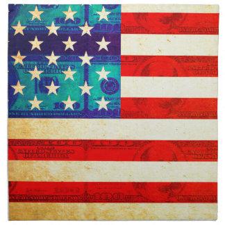 America money flag napkin