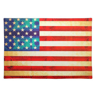 America money flag placemat