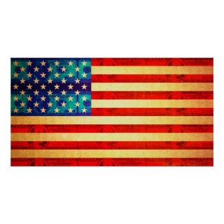 America money flag poster