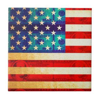 America money flag tile