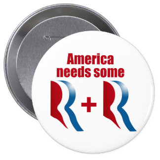 AMERICA NEEDS SOME R AND R.png 10 Cm Round Badge