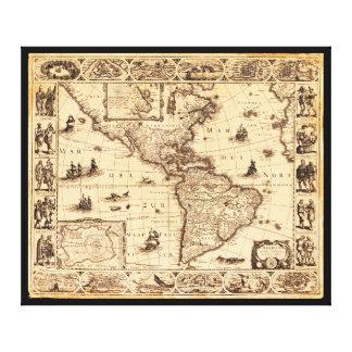 America, Noviter Delineata Map (1622) Canvas Print