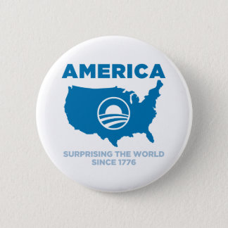 America Obama 6 Cm Round Badge