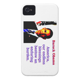 America Our Endless Blessings - Barack Obama iPhone 4 Case