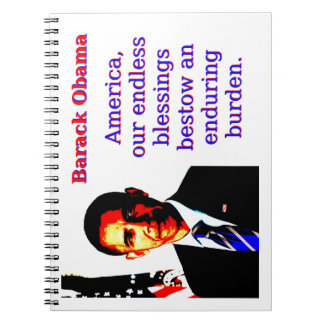 America Our Endless Blessings - Barack Obama Notebook