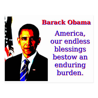 America Our Endless Blessings - Barack Obama Postcard