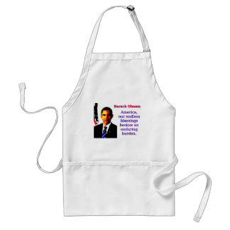 America Our Endless Blessings - Barack Obama Standard Apron