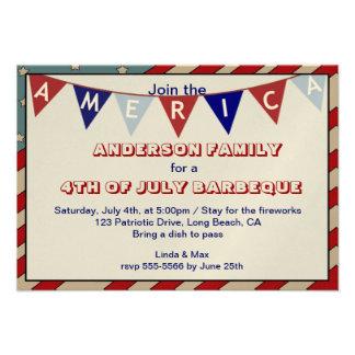 America Patriotic Event Occasion Custom Invitation Custom Invites