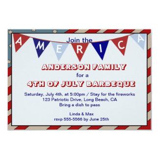 America Patriotic Event Occasion Custom Invitation