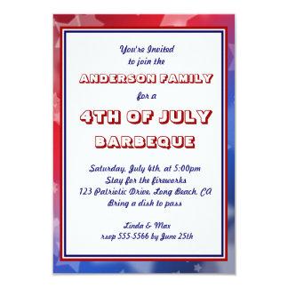 America Patriotic Event Occasion Custom Invitation Personalized Invite