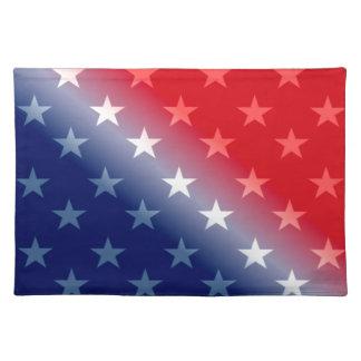 america patriotic red white blue placemat