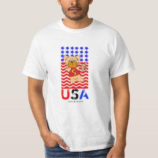 America Patriotic T-Shirt Football Dog