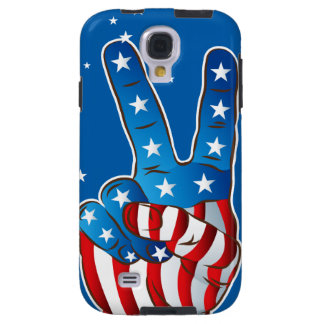 America Patriotic Victory Hand Fingers S4 Case