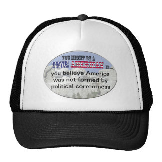 america political correctness trucker hat