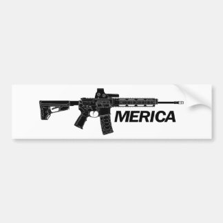America Rifle Bumper Sticker