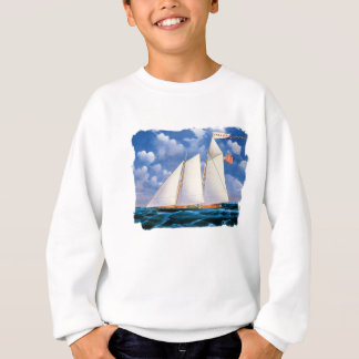 America (schooner yacht) by James Bard Sweatshirt