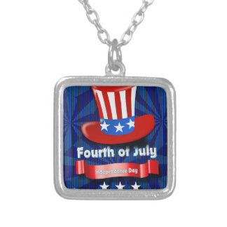 America Silver Plated Necklace