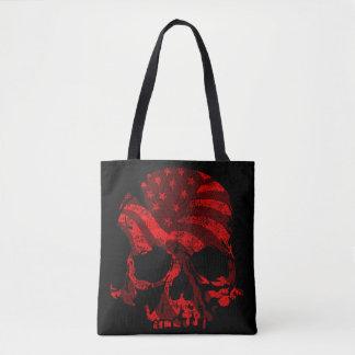 America Skull Red Tote Bag