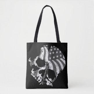 America Skulls Tote Bag