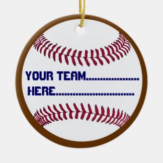 America Spirit Baseball charm and Souvenir Round Ceramic Decoration