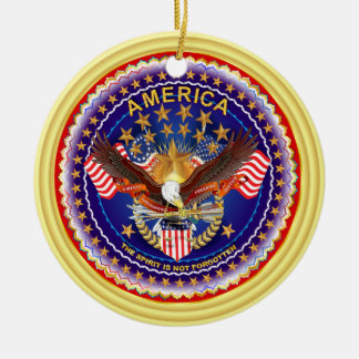 America Spirit Charm  Please See Notes Round Ceramic Decoration