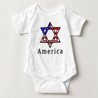 America Star of David Judaism! BABY BODYSUIT