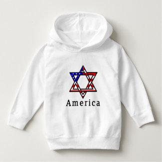 America Star of David Judaism! HOODIE