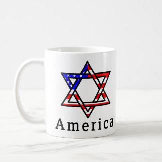 America Star of David Judaism MUG! Coffee Mug