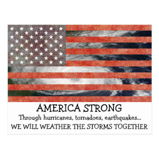 America Strong Weather the Storm Together Postcard