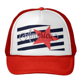 America the Beautiful Mesh Hat