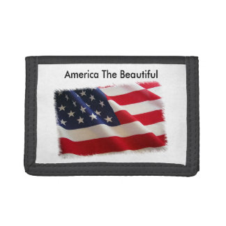 America The Beautiful Leather Wallet