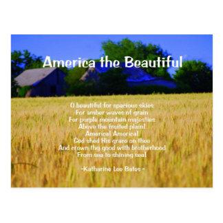 America the Beautiful Postcard