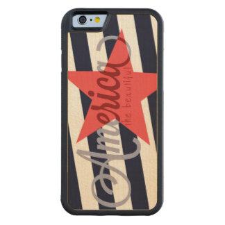 America the beautiful wooden phone case maple iPhone 6 bumper case