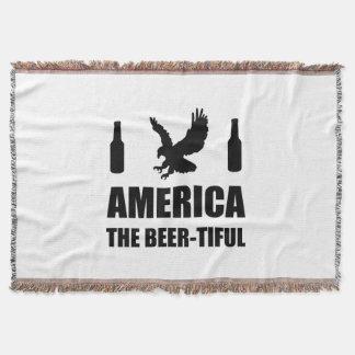 America The Beertiful Throw Blanket