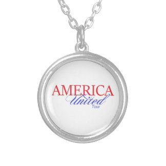 America United Gear Silver Plated Necklace