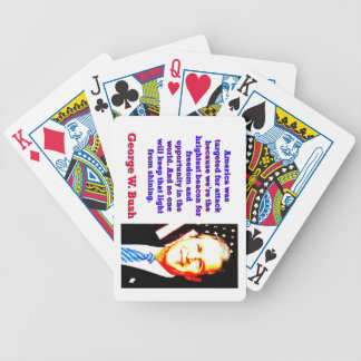 America Was Targeted For Attack - G W Bush Bicycle Playing Cards